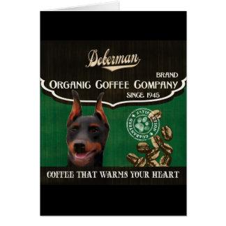 Dobermann-Marke - Organic Coffee Company Grußkarte