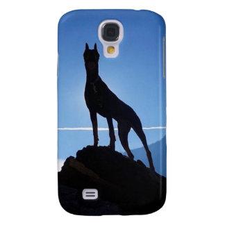 Dobermann-Samsung-Galaxie S4, kaum dort Galaxy S4 Hülle