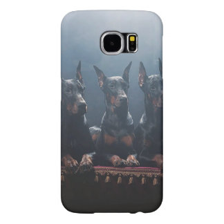Dobermann-Samsung-Galaxie S6, kaum dort