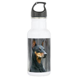 Dobermann-Wasser-Flasche Edelstahlflasche