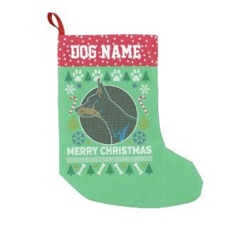Dobermannpinscher-Hundezucht-hässliche Kleiner Weihnachtsstrumpf