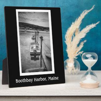 Dockside Boothbay Hafen 8x10 mit Gestell Fotoplatte