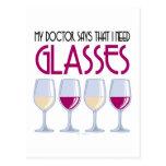 Docteur Says I Need Glasses Carte Postale