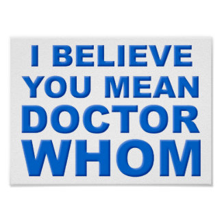 Docteur Whom Funny Poster