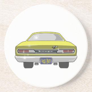 Dodge-Superbiene 1969 Sandstein Untersetzer