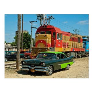 Dodge und Diesellokomotive Postkarte