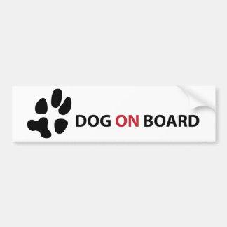DOG ON BOARD ADHÉSIFS POUR VOITURE
