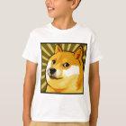 Doge Meme quadratisches Doge-Selbstporträt T-Shirt