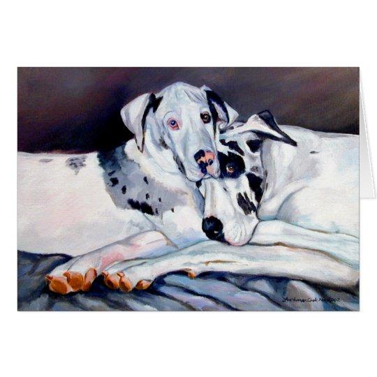 Dogge-Gruß-Karten Grußkarte