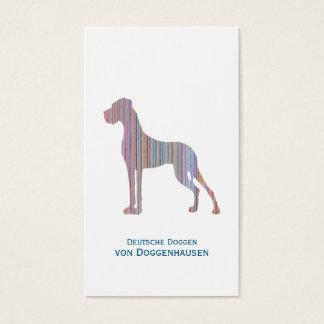 Dogge, minimalistisch dezent visitenkarten