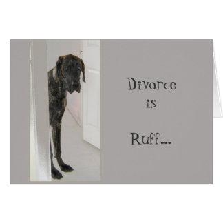 Dogge-Schoßhund-Scheidungs-Kampfläufer bin ich Karte