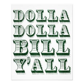 Dolla Dolla Bill Yall Bargeld-Geld-Dollar 11,4 X 14,2 Cm Flyer