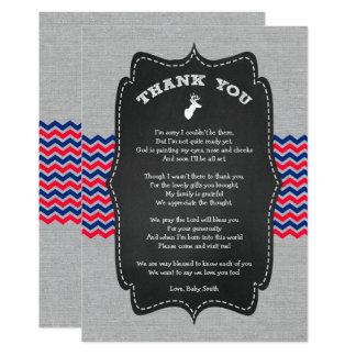 Dollar-Babyparty danken Ihnen, rotes weißes Blau 12,7 X 17,8 Cm Einladungskarte