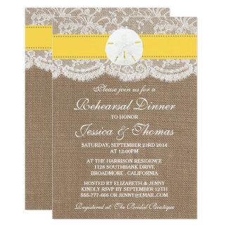 Dollar-Strand-Hochzeits-Proben-Abendessen mit Karte