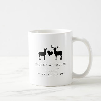 Dollar-und Damhirschkuh-Gastgeschenk Hochzeit Kaffeetasse