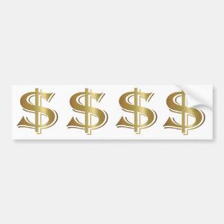 Dollar-Zeichen-Autoaufkleber Autoaufkleber