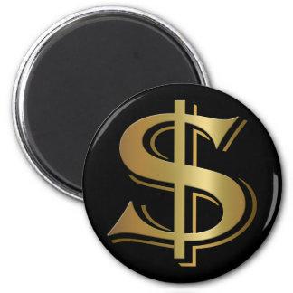 Dollar-Zeichen-Magnet Runder Magnet 5,1 Cm