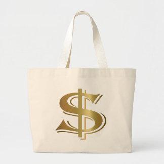 Dollar-Zeichen-Tasche Jumbo Stoffbeutel