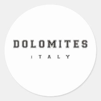 Dolomites Italie Sticker Rond
