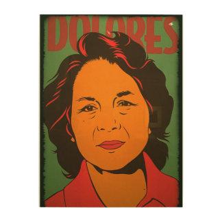 Dolores-Sechzigerjahre Gastarbeiter-Aktivist Holzleinwand