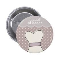 Domestique d'honneur -- POURPRE de //de robe de ma Pin's