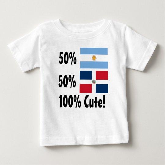 Dominikaner 100% 50% Argentinier-50% niedlich Baby T-shirt