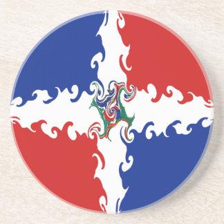 Dominikanische Republik-Gnarly Flagge Getränke Untersetzer