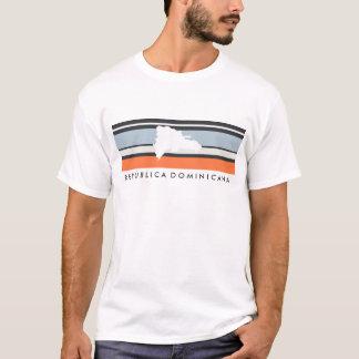 Dominikanische Republik-Karte: Moderne Streifen T-Shirt