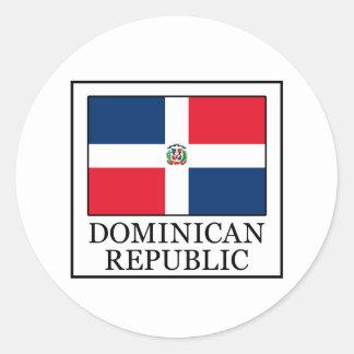 Dominikanische Republik Runder Aufkleber