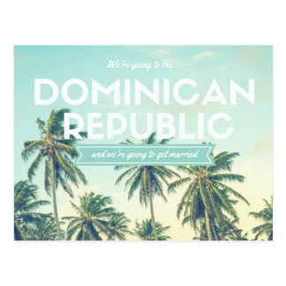 Dominikanische Republik-tropischer Strand retten Postkarte