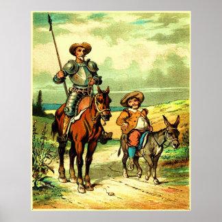 Don Quichote und Sancho Panza Plakat