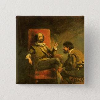 Don Quichote und Sancho Panza Quadratischer Button 5,1 Cm