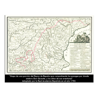 Don Quichote Weg Karte - Cervantes