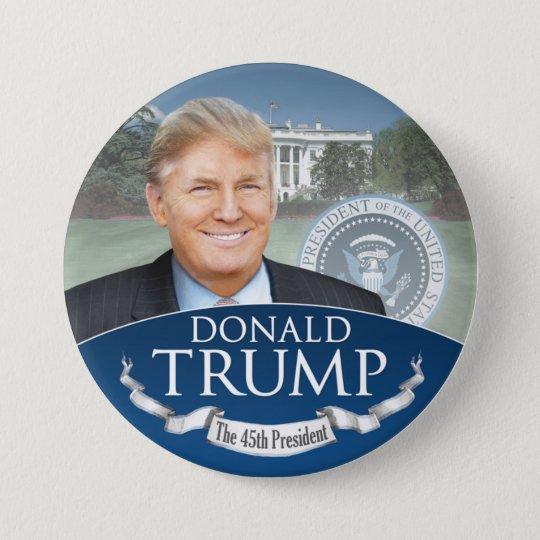 Donald Trump der 45. Präsident - Einweihung Runder Button 7,6 Cm