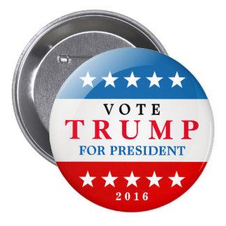 Donald Trump für Präsidenten Wahlkampf 2016 Runder Button 7,6 Cm