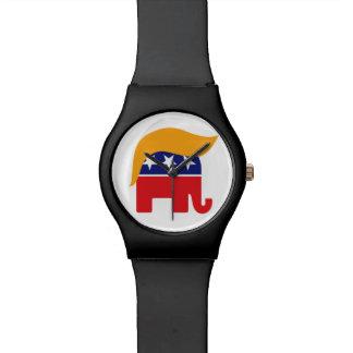 Donald Trump GOP-Elefant-Haar - es ist Zeit Uhr