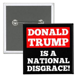 Donald Trump ist ein nationaler Quadratischer Button 5,1 Cm