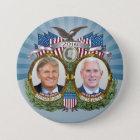 Donald- Trump u. Mike-Pennys Jugate Foto-blauer Runder Button 7,6 Cm
