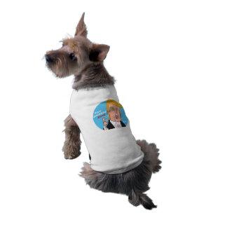 Donald TrumpCartoon-HundeT - Shirt 2016 Ärmelfreies Hunde-Shirt