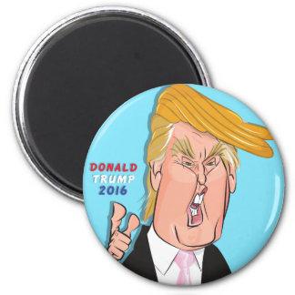 Donald- TrumpCartoon-Magnet Runder Magnet 5,1 Cm