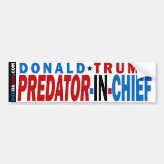 Donald- Trumpfleischfresser im Leiter Autoaufkleber