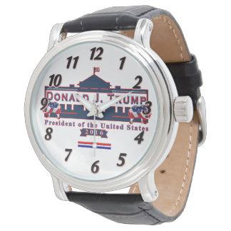 Donald- Trumpgewählter präsident Vintage lederne Armbanduhr