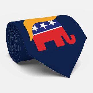 Donald- Trumphaar GOP-Elefant-Logo Bedruckte Krawatte