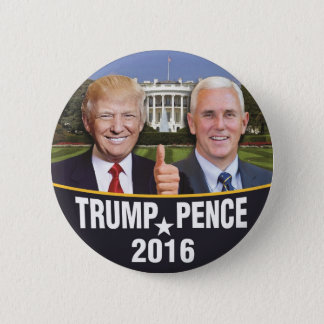 Donald- TrumpMike-Pennys Whitehouse Runder Button 5,7 Cm