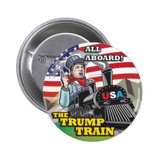 Donald- Trumpzug politische amerikanische Bewegung Runder Button 5,1 Cm