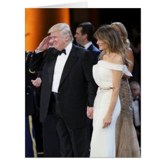 Donald- u. Melania-Trumpf am Einweihungs-Tag Karte
