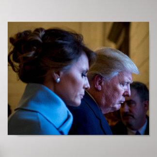 Donald- u. Melania-Trumpf am Einweihungs-Tag Poster