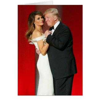 Donald- u. Melania-Trumpf u. der Freiheits-Ball Karte