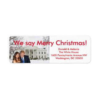 Donald u. Melania: Wir sagen frohe Weihnachten