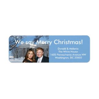 Donald u. Melania: Wir sagen frohe Weihnachten!
